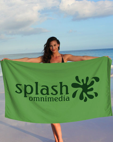 Picture of Superior Weight Colored Beach Towel