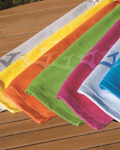 Picture of Turkish Signature Colored Fingertip Towel
